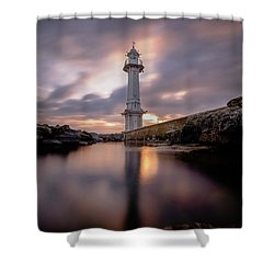 Shower Curtain featuring the photograph Lighthouse by Okan YILMAZ