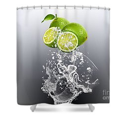 Lime Splash Shower Curtain