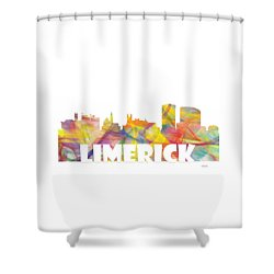 Limerick Ireland Skyline Shower Curtain