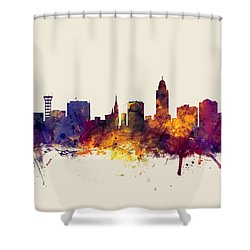 Lincoln Nebraska Skyline Shower Curtain