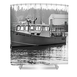 Lobster Boat Shower Curtain by Trace Kittrell