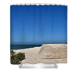 Shower Curtain featuring the photograph long awaited View by Werner Lehmann