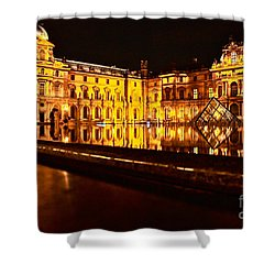 Shower Curtain featuring the photograph Louvre Pyramid by Danica Radman
