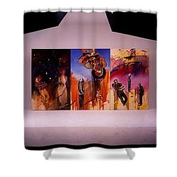 Shower Curtain featuring the painting Love Hurts by Charles Stuart