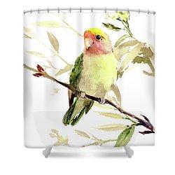Lovebird Shower Curtain by Suren Nersisyan