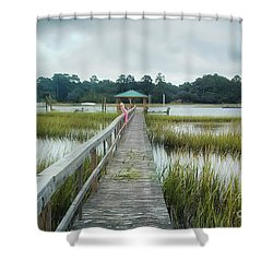 Lowcountry Dock Shower Curtain