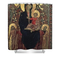 Madonna And Child Shower Curtain by Granger