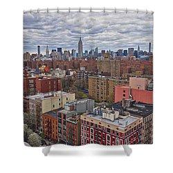 Manhattan Landscape Shower Curtain by Joan Reese