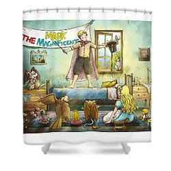 Mark The Magnificent Shower Curtain