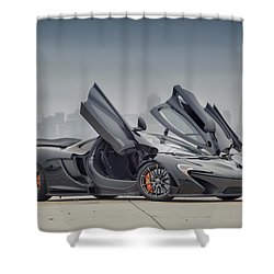 Shower Curtain featuring the photograph Mclaren P1 by ItzKirb Photography