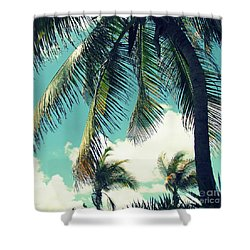 Miami Shower Curtain by France Laliberte