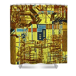 Microprocessor Shower Curtain by Michael W. Davidson