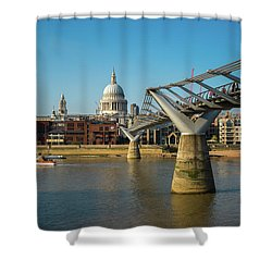 Shower Curtain featuring the photograph Millennium Bridge by Stewart Marsden