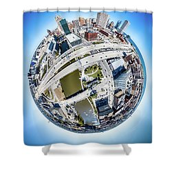Milwaukee Riverwalk Shower Curtain