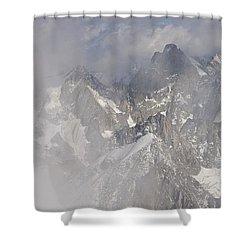 Mist At Aiguille Du Midi Shower Curtain