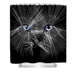 Mister Whiskers Shower Curtain by ISAW Gallery