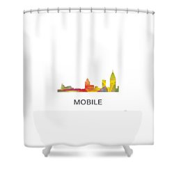Mobile Alabama Skyline Shower Curtain
