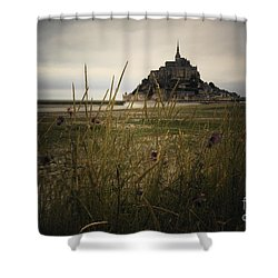 Mont St Michel Shower Curtain by Therese Alcorn