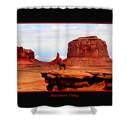 Shower Curtain featuring the photograph Monument Valley II by Tom Prendergast
