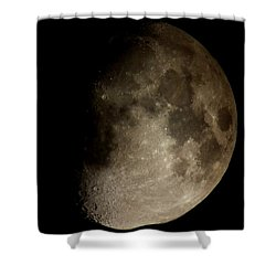 Moon Shower Curtain by George Leask