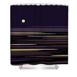 Moonlight Bay Shower Curtain by Val Arie