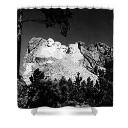 Mount Rushmore Shower Curtain by Granger