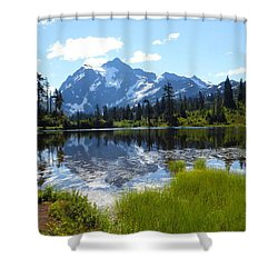 Mount Shuksan Reflection Shower Curtain by Karen Molenaar Terrell
