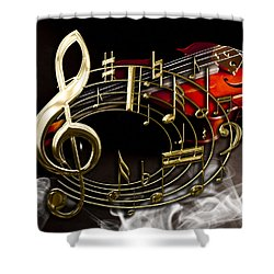 Musical Collection Shower Curtain by Marvin Blaine
