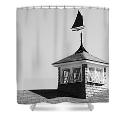 Nantucket Weather Vane Shower Curtain by Charles Harden