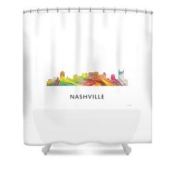 Nashville Tennessee Skyline Shower Curtain by Marlene Watson