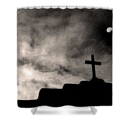 New Mexico Moon Shower Curtain