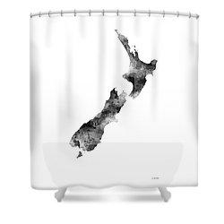New Zealand Map Shower Curtain