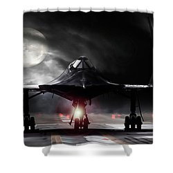 Night Moves Shower Curtain by Peter Chilelli