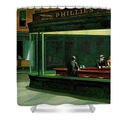 Nighthawks Shower Curtain by Edward Hopper