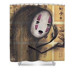 No Face Shower Curtain by Abril Andrade Griffith