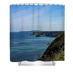 Shower Curtain featuring the photograph North Coast Cornwall by Brian Roscorla