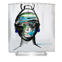 Nuer Bride - South Sudan Shower Curtain by Gloria Ssali