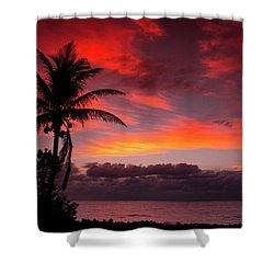 Oceanfront Sunrise Shower Curtain