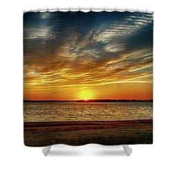 Oklahoma Sunset Shower Curtain