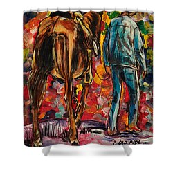 2 Old Pros Shower Curtain