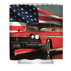 Old-timer Plymouth Shower Curtain