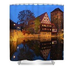 Nuremberg At Night Shower Curtain