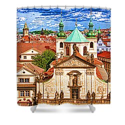 Old Town Prague Shower Curtain by Dennis Cox WorldViews