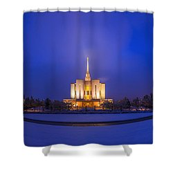 Shower Curtain featuring the photograph Oquirrh Mountain Temple by Dustin  LeFevre