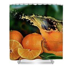 Orange Splash Shower Curtain