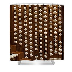 Organ Stops Shower Curtain