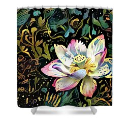 Paisley Waterlily Shower Curtain