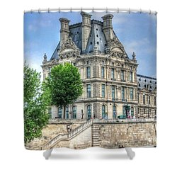 Shower Curtain featuring the pyrography Paris France by Yury Bashkin