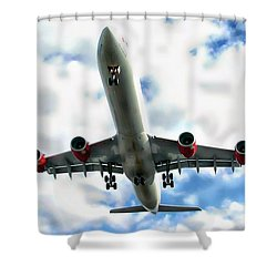 Passenger Plane Shower Curtain