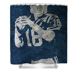 Peyton Manning Colts Shower Curtain by Joe Hamilton
